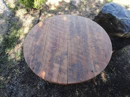 antique barnwood round dining table 60 inches 5 7 person mt
