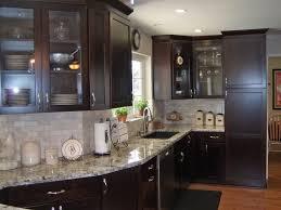 Kitchen Backsplash Cherry Cabinets by White Granite Countertops White Tile Backsplash Cherry Cabinets