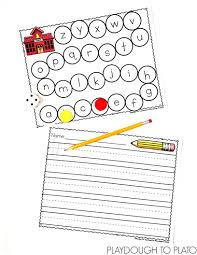 lined paper for writing practice race to school abc game playdough to plato and for students who are ready they could practice writing the letters that they land on using the lined paper