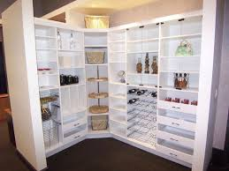 white big modern kitchen pantry form of shelf with sectional