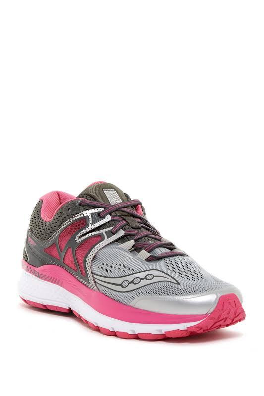 Saucony Hurricane ISO 3 Running Shoe, Grey/Pink/White,