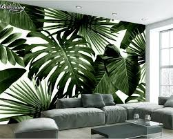 popular banana leaves wallpaper buy cheap banana leaves wallpaper beibehang modern custom 3d wallpaper tropical rain forest palm banana leaf 3d living room background wall