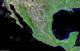 Mexico Map 1800 by Mexico Map And Satellite Image