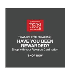 Thanks for sharing  have you been rewarded  Shop with your Rewards Card today