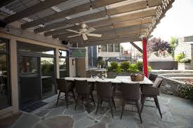 Timber Frame Pergola by Attached Timber Frame Pergola With Louvered Roof Outdoor Tv Fan