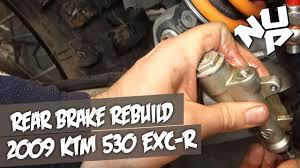 ktm 530 rear brake master cylinder rebuild youtube