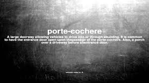 Carport Porte Cochere What Does Porte Cochere Mean Youtube