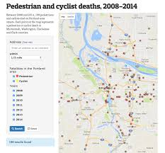 Zip Code Map Portland Or by Pedestrian And Cyclist Deaths 2008 2014