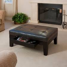 Footstools Ottomans by Decorating Idea From Stylish Leather Ottoman Coffee Table