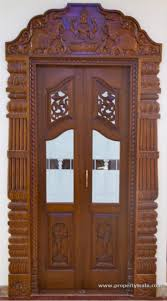 Kerala Style Home Front Door Design by Here Are Some Beautiful Pooja Room Door Designs For You Choose