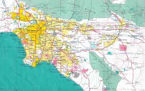 Los Angeles County Map by Map Of Los Angeles You Can See A Map Of Many Places On The List