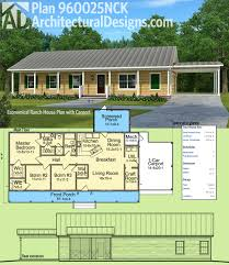 Ranch House Plan by Architectural Designs Simple House Plan 960025nck Is A Single