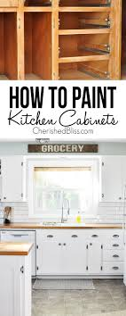 Tips On How To Paint Kitchen Cabinets Cherished Bliss Beautiful - Can you paint your kitchen cabinets