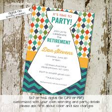 Retirement Function Invitation Card Retirement Party Invitation Birthday Christening Baby Boy Shower