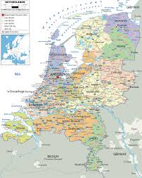 Detailed Map Of Germany by Maps Of Holland Detailed Map Of Holland In English Tourist Map