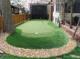 Backyard Golf Hole by The Stress Free Golf Swing Traditional Landscape Golf And Backyard