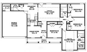Floor Plans For One Level Homes by 4 Bedroom House Plans Amp Home Designs Celebration Homes Classic 4