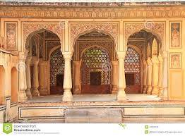 interior of hawa mahal wind palace in jaipur rajasthan india