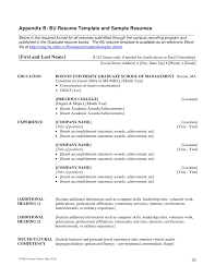 Application Resume Example by Writing Mba Resumes