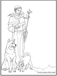 st francis coloring page google search rf printables