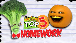Annoying Orange   Top   Ways To Get Out Of Your Homework    YouTube YouTube