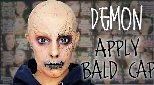 Halloween Makeup Application by Demon Makeup And How To Apply Bald Cap Fx Makeup Silvia Quiros