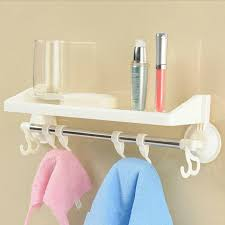 Bathroom Shelf With Hooks Popular Plastic Wall Hook Buy Cheap Plastic Wall Hook Lots From