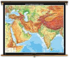 Physical Map Of Africa by Klett Perthes Extra Large Physical Map Of Southwestern Asia