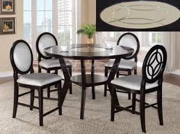 Five Piece Dining Room Sets Gianna 5 Piece Counter Height Dining Set In Espresso