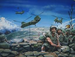 india six and supergaggle painting of vietnam war by paul barker