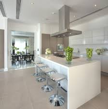 Modern Luxury Kitchen Designs by High Gloss White Kitchen With A Pop Of Bright Colour Love This
