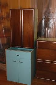 Retro Metal Kitchen Cabinets by Erika U0027s Metal Kitchen Cabinets With Wood Doors Retro Renovation