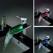 koko led waterfall bathroom sink faucet
