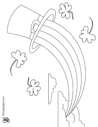 leprechaun and rainbow coloring pages getcoloringpages com