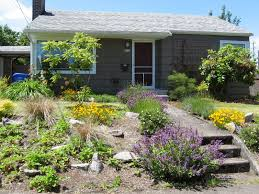 Front Garden Design Ideas Low Maintenance Landscape Sloping Front Garden Design Ideas Garden Post With