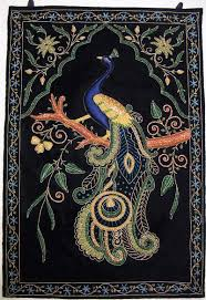 Silk Peacock Home Decor by Kashmir Wool Rugs Roselawnlutheran