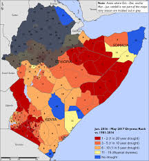 Map Of Kenya Africa by East Africa Alert Thu 2017 07 06 Famine Early Warning