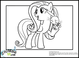 fluttershy coloring pages my little pony coloring pages my little