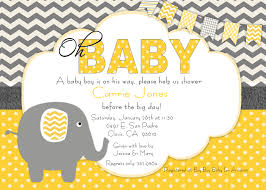 printable baby shower invitations for boys elephant baby shower invitations kawaiitheo com