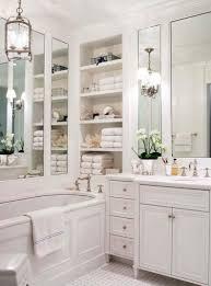 bathroom storage ideas small bathrooms stylish blue tile mosaic