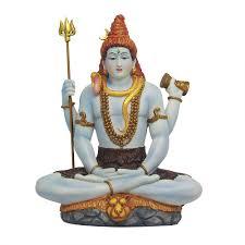 lord shiva seated full color hindu god statue buddhist hindu gods