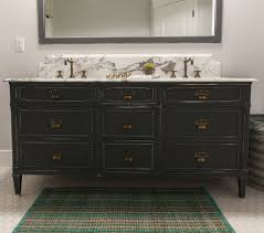 Black Distressed Bathroom Vanity by Eclectic Home Tour Rafterhouse