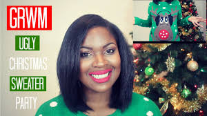 grwm ugly christmas sweater party ft carli bybel makeup palette