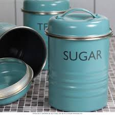 100 kitchen tea coffee sugar canisters set of 3 vintage