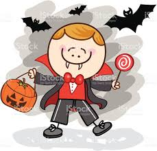 halloween characters clipart kid with vampire halloween costume cartoon illustration stock
