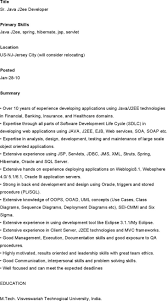 Java Resumes 2 Senior Java Developer Resume Sample Java Resume Resume Cv