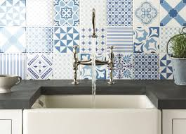 Glass Kitchen Tile Backsplash Ideas Kitchen Top 15 Patchwork Tile Backsplash Designs For Kitchen Blue