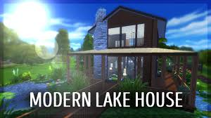 modern lake house the sims 4 build youtube