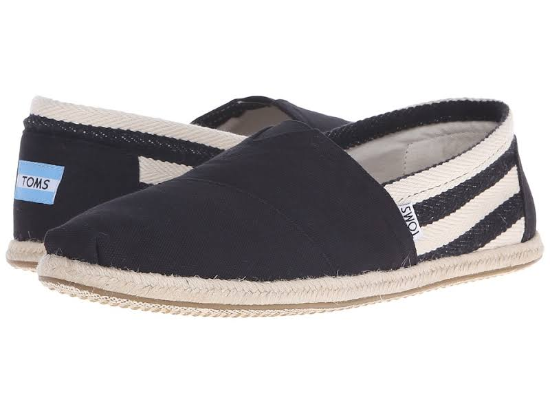 Toms Classic Canvas Stripe Ankle-High Slip-On Shoes