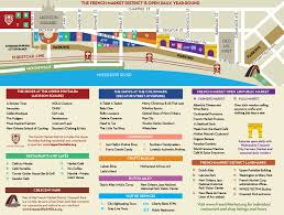 New Orleans Downtown Map by French Market Directions U0026 Parkingfrench Market
